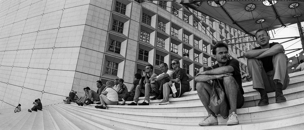 Modern architechture, Johan Otto von Spreckelsen, historical axis, François Mitterrand, photojournalism, street photography
