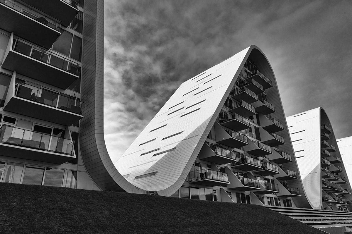 Bølgen, wave, shaped, Henning Larsen Architects, Vejle, fjord